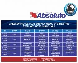CALEND�RIO DE R.Os - ENSINO M�DIO